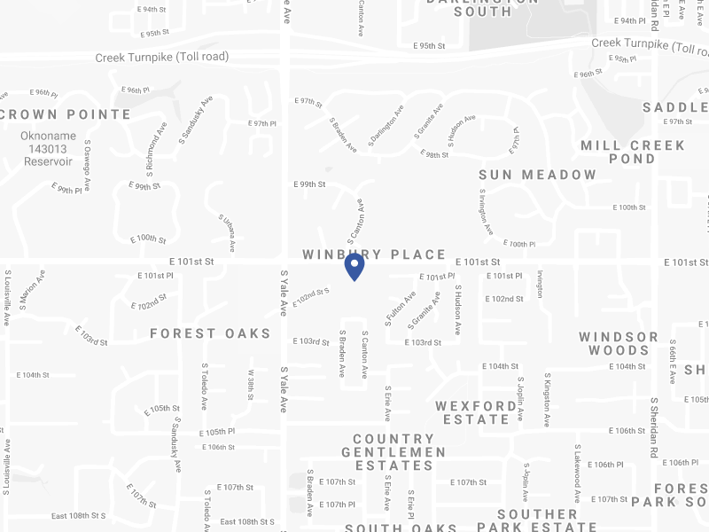 Map of RiverOaks Presbyterian Church of Tulsa, Oklahoma
